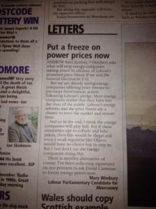 energy bills letter