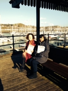 Mary and Deborah on Conwy Marina