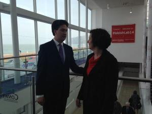 chatting to Ed at Welsh Labour