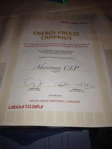 energy petition certificate