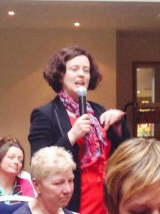 Speaking to women's forum