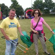 litter picking with councillor mike